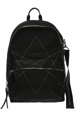Backpack with geometric stitching od Rick Owens DRKSHDW